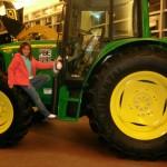 I drive a John Deer tractor...
