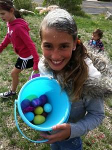 Orgullosa por sus huevos