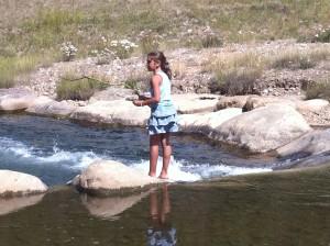 Pescando en el Blue River