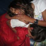 Durmiendo en el avión, posición Ying-yang