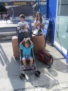 Llegamos a Madrid, esperando el coche rentado