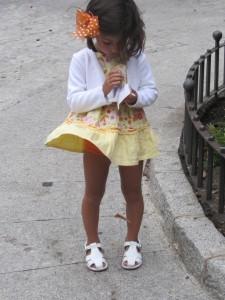 Marilyn comiendo helado en Avila