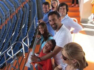 La familia en el estadio