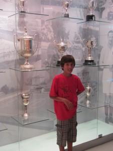 En la sala de trofeos