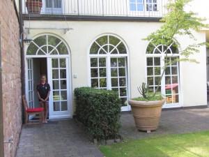 "Ania entrando al ""flat"" de Heidelberg"