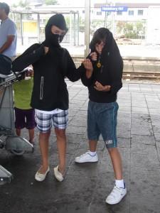 Los ninjas en la estación!