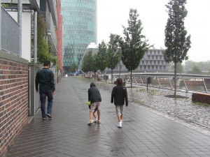 Caminata lluviosa en Frankfurt