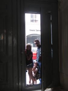 Entrando al depa de Paris