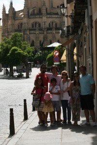 En Segovia, frente a la catedral
