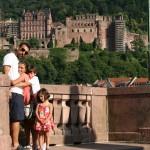 Con el Heidelberger Schloss atras