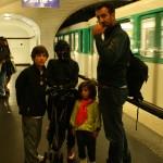 Para subirnos al metro en el centro de Paris por primera vez...