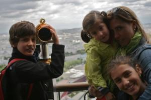 Con mami sobre Paris