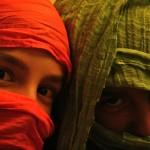 Beduinos en el tren a Barcelona