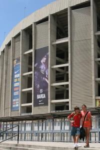 Afuera de Camp Nou