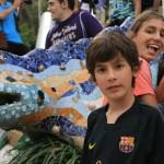Por la cantidad de gente que queria tomarse la foto con la mentada iguana, esta es la mejor que pudimos tomar
